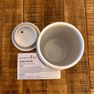 Pampered Chef Ceramic Egg Cooker NWOT
